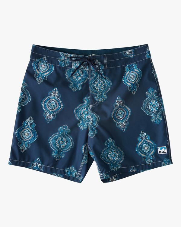 "0 Sundays Sano 17"" - Recycled Board Shorts for Men Purple X1BS15BIS1 Billabong"