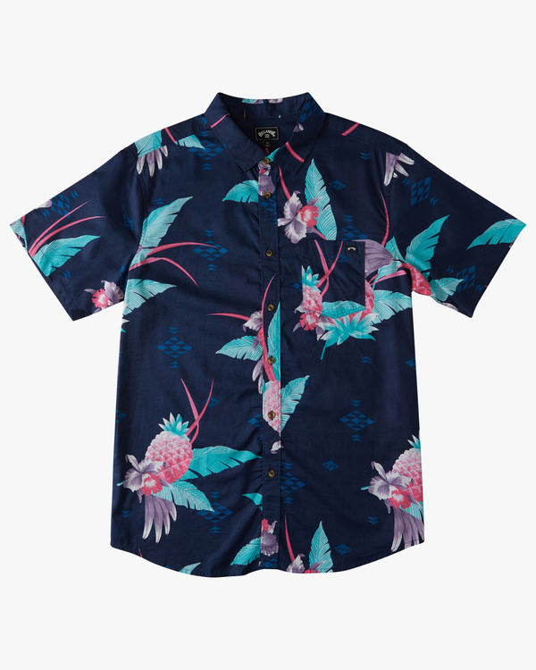 0 Sundays Floral - Short Sleeve Top for Men Blue X1SH01BIS1 Billabong