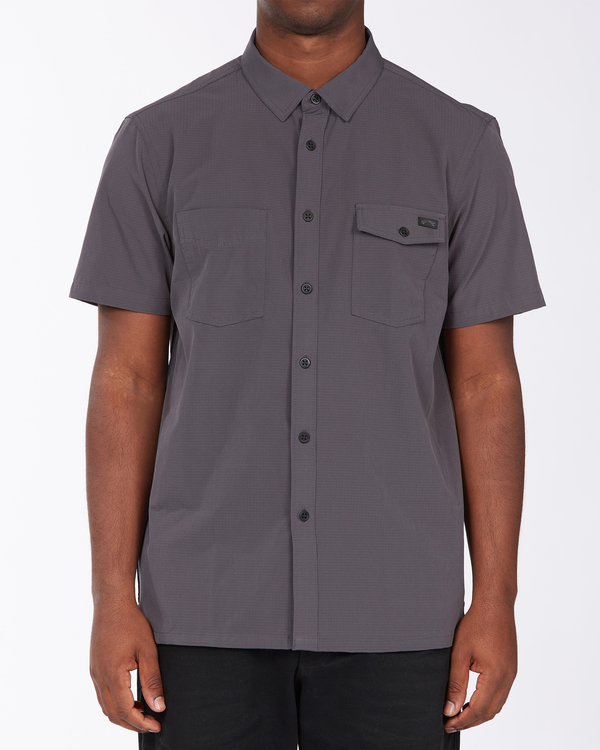 0 Adventure Division Surftrek - Recycled Short Sleeve Shirt for Men Black X1SH02BIS1 Billabong