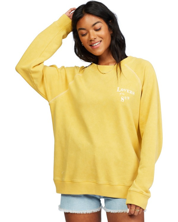 0 Salt And Sand - Sweatshirt for Women Yellow X3FL20BIS1 Billabong