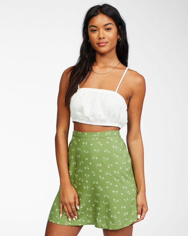 0 Crossroads - Mini Skirt for Women Green X3SK01BIS1 Billabong