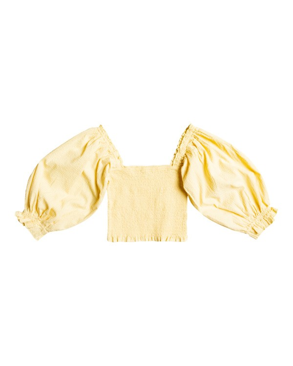 0 Feeling Groovy - Cropped Top for Women Yellow X3TP08BIS1 Billabong