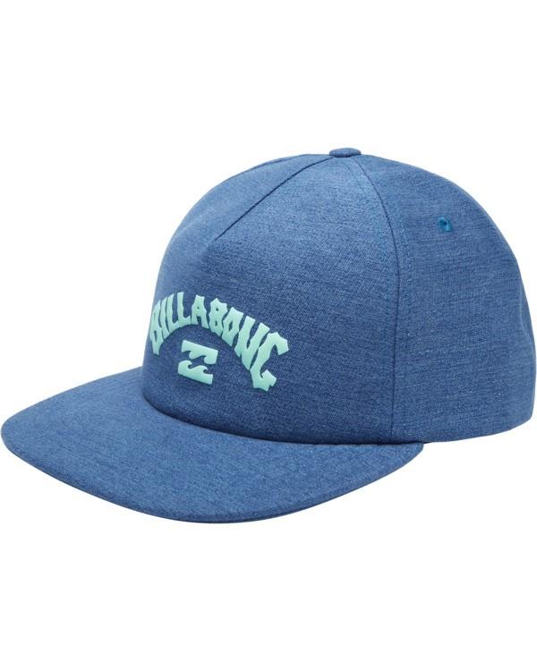 0 Wallie - Snapback Cap for Men Blue X5CM03BIS1 Billabong