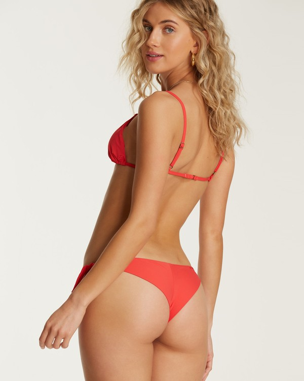 0 Sol Searcher Tanga Tie-Side Bikini Bottom Red XB03TBSO Billabong