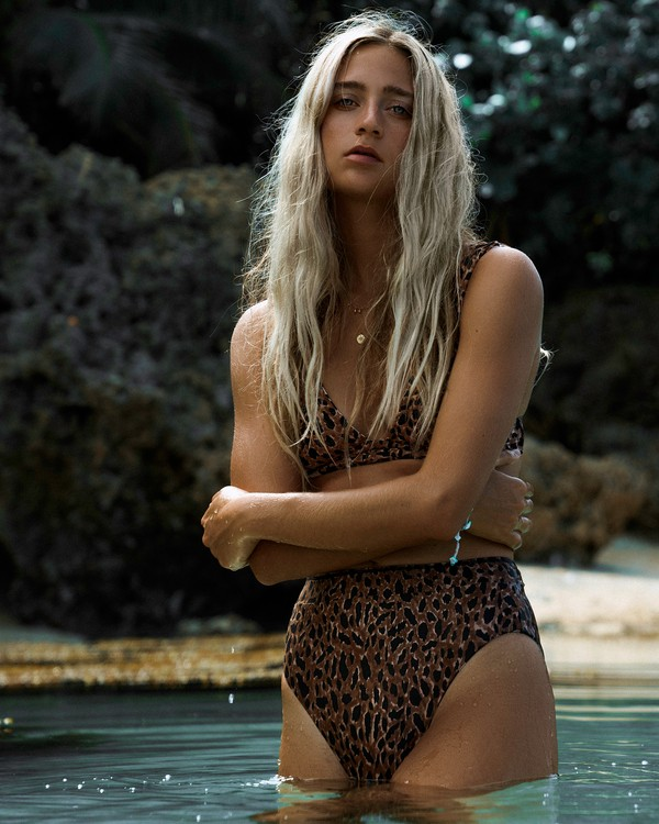 0 Wild Waves Rise Bikini Bottom Grey XB08WBWI Billabong