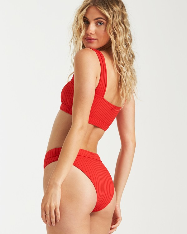 0 Sunny Rib Maui Rider Bikini Bottom Red XB09UBSU Billabong