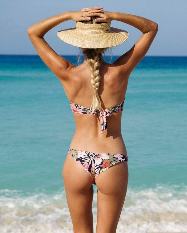 0 Wild Tropic Tanga Reversible Bikini Bottom  XB19UBWI Billabong
