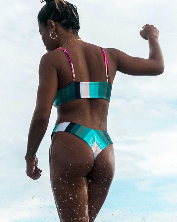 0 Sol Stripes Reversible Fiji Bikini Bottom Grey XB302BSO Billabong