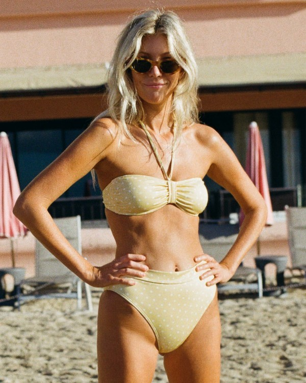 0 Salty Blonde Sundipped Rise Bikini Bottom Pink XB363BSU Billabong