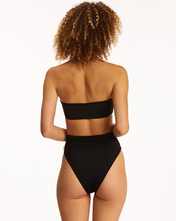 0 Sol Searcher Rise High-Waisted Bikini Bottom Black XB563BSE Billabong