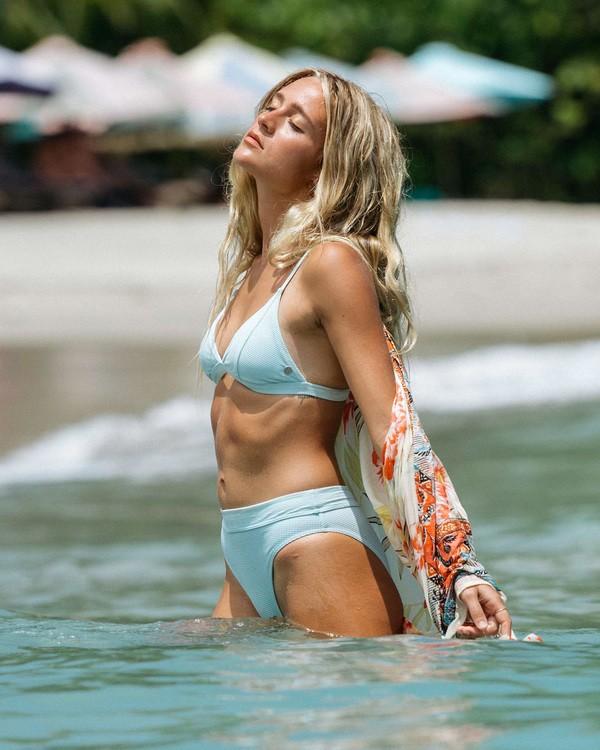 0 Rolling By Maui Rider Bikini Bottom Blue XB581BRO Billabong