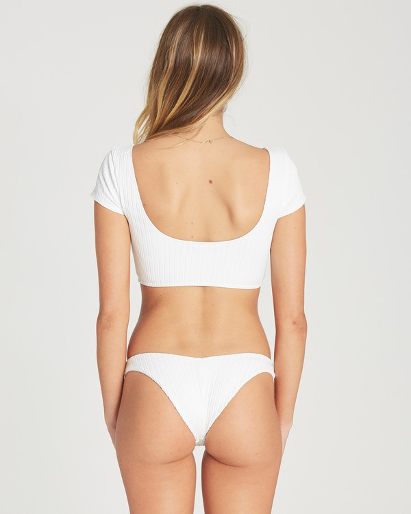 0 Heating Up Rib Hike Bikini Bottom White XB62TBHE Billabong