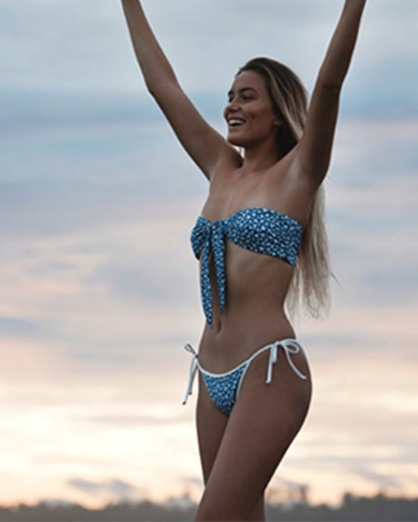 0 Florida Skinny Biarritz Bikini Bottoms Blue XB70VBFL Billabong