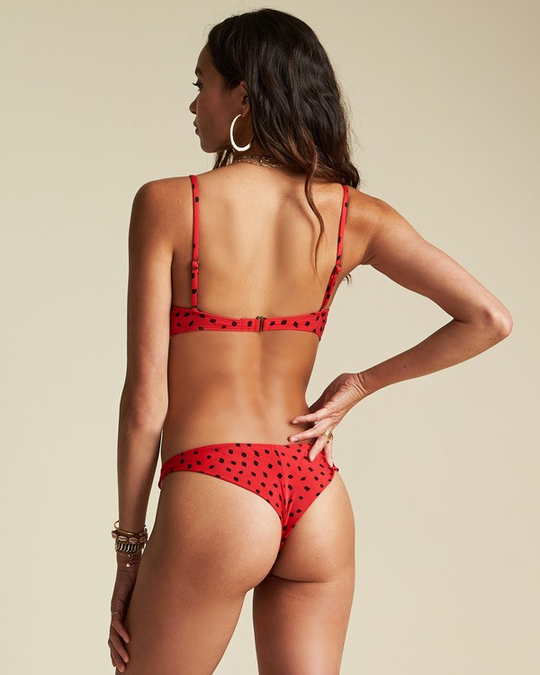 0 Sincerely Jules Rio Rain Tanga Bikini Bottom Red XB841BRI Billabong