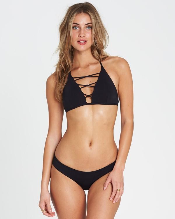 0 Sol Searcher High Neck High Neck Bikini Top Black XT02SBSO Billabong
