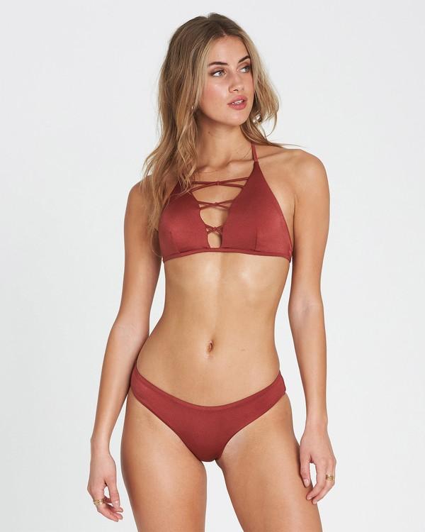 0 Sol Searcher High Neck High Neck Bikini Top Red XT02SBSO Billabong