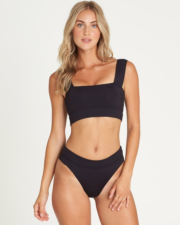 0 Sol Searcher Square Neck Bikini Top Black XT03UBSO Billabong