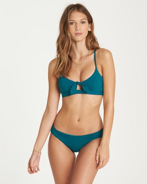 0 Sol Searcher Tie Tank Bikini Top Blue XT05QBSO Billabong