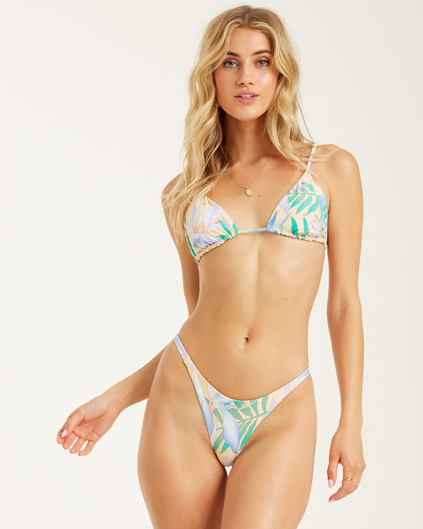 0 Love Palms Tri Bikini Top Yellow XT112BLO Billabong