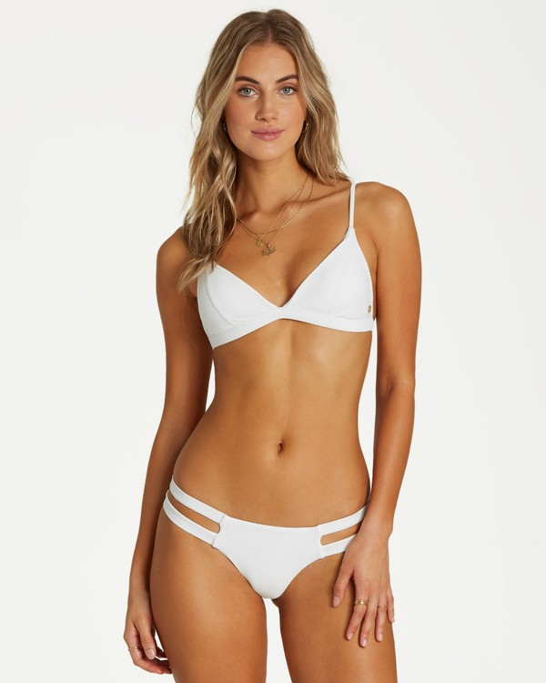 0 Too Salty Fix Tri Bikini Top White XT13VBTO Billabong