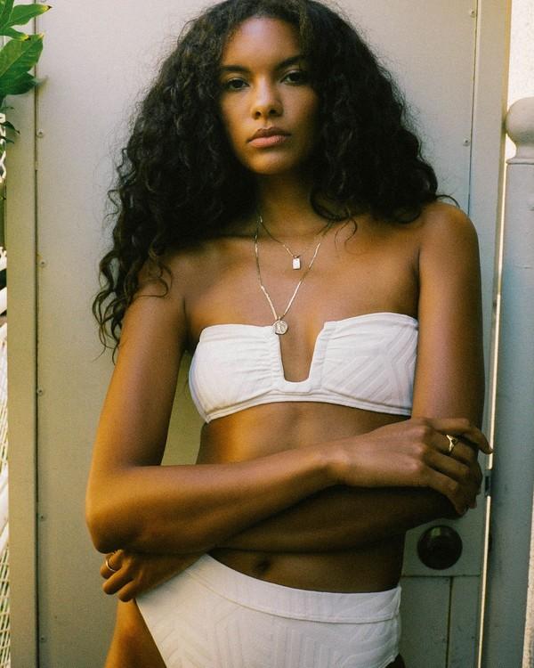 0 Peeky Days Square Wire Bikini Top White XT152BPE Billabong