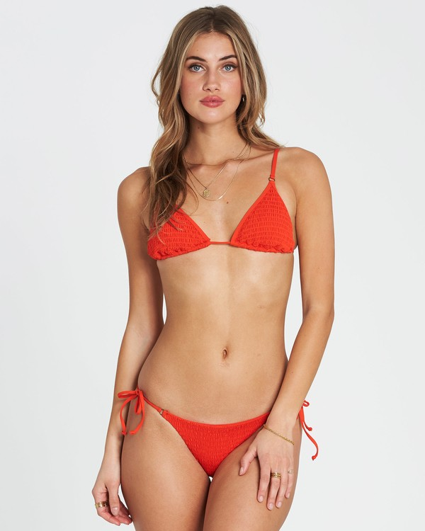 0 Fire Slide Tri Triangle Bikini Top Red XT24SBFI Billabong