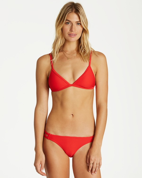 0 Tanlines Fixed Tri Bikini Top Red XT25VBTA Billabong