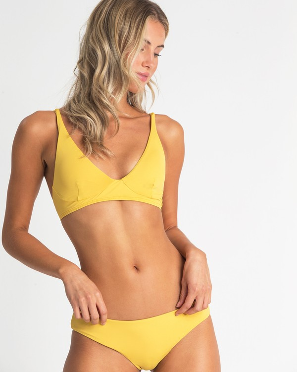0 High On Sun Bralette Bikini Top Yellow XT54UBHI Billabong
