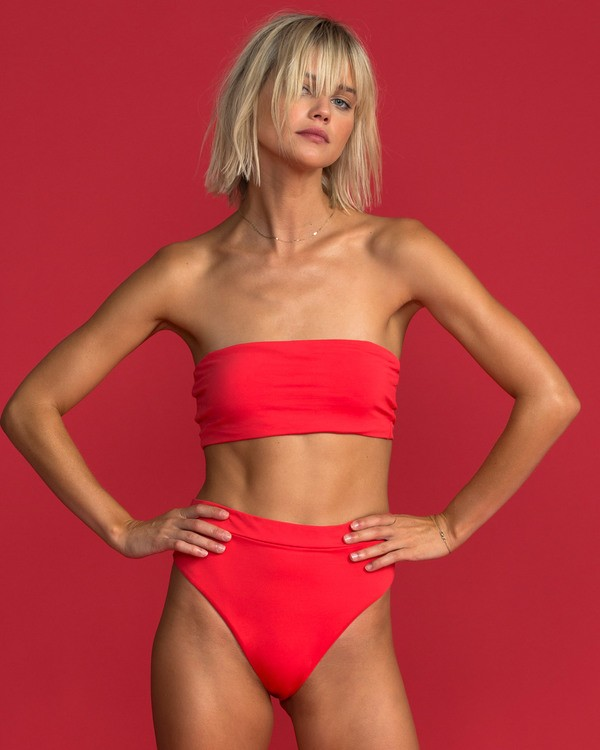 0 Sol Searcher Sunny Tube Bandeau Bikini Top Red XT62TBSO Billabong