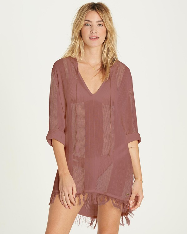 0 Babe Side Cover Up Dress Pink XV01MBAB Billabong