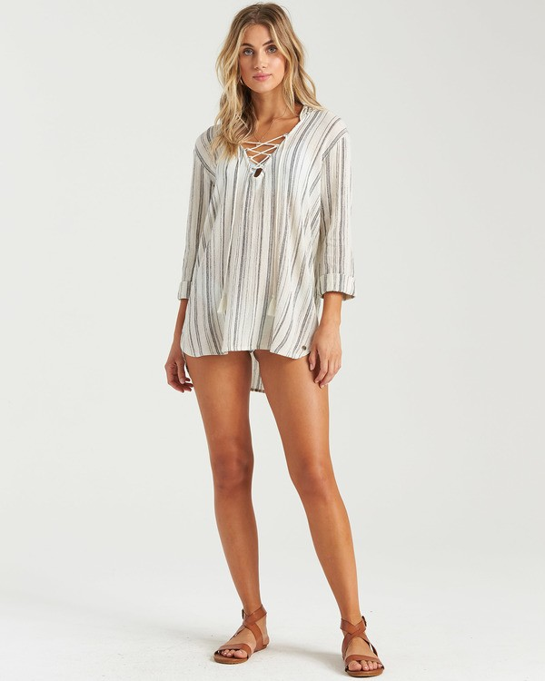 0 Same Story Dress White XV033BSA Billabong