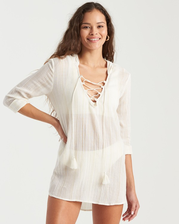 0 Same Story Dress White XV033BSA Billabong