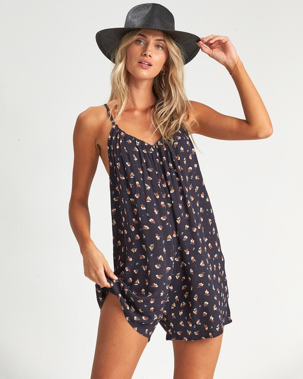 0 Del Sur Mini Swim Cover Up Black XV07UBDE Billabong