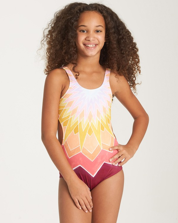 0 Girls' Ray Of Sun One Piece Grey Y101WBRA Billabong