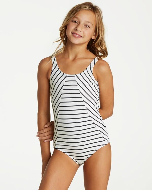 0 Girls' Groovy Night One Piece Swim White Y104VBGR Billabong