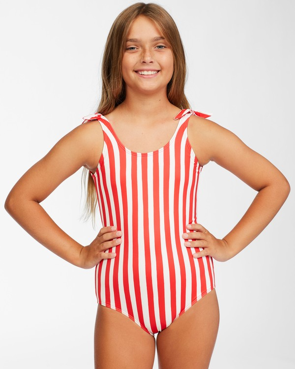 0 Girls' Free Babe One Piece Red Y1062BFR Billabong