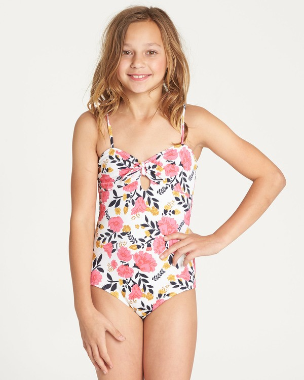 0 Girls' Sun Dream One Piece Swim Grey Y107TBSU Billabong