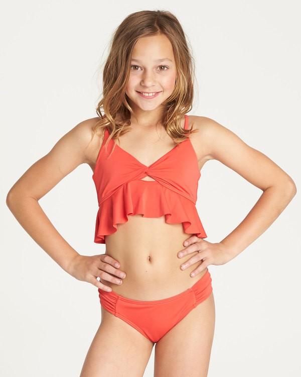 0 Girls' Sol Searcher Ruffle Bikini Set Red Y201TBSO Billabong