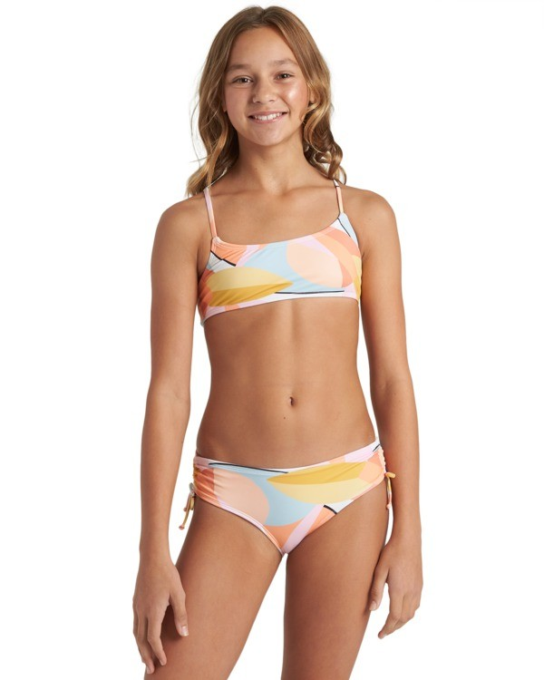0 Girls' Warm Days Mini Crop Bikini Set Grey Y2033BWA Billabong
