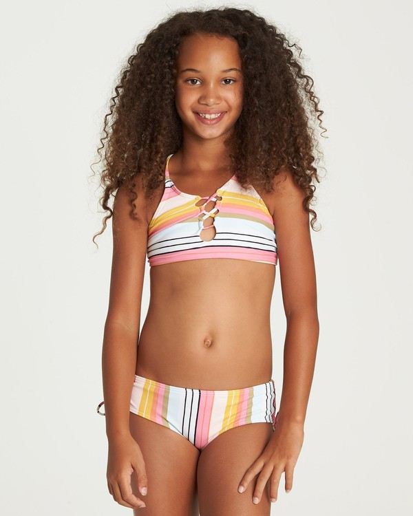 0 Girls' Sunny Song High Neck Bikini Set Grey Y208UBSU Billabong
