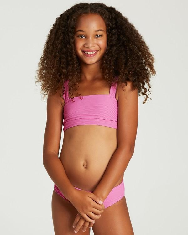 0 Girls' Line Up Square Neck Bikini Set Purple Y208VBLI Billabong
