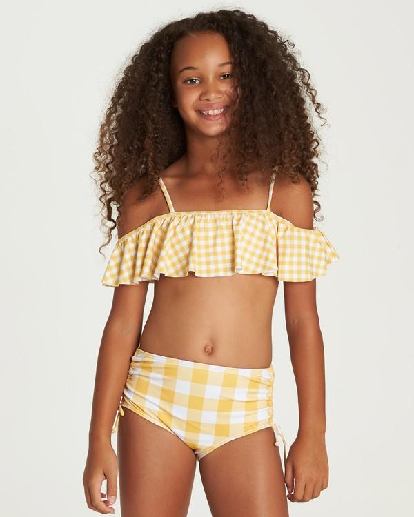 0 So Golden Ruffle Bikini Set Yellow Y211UBSO Billabong
