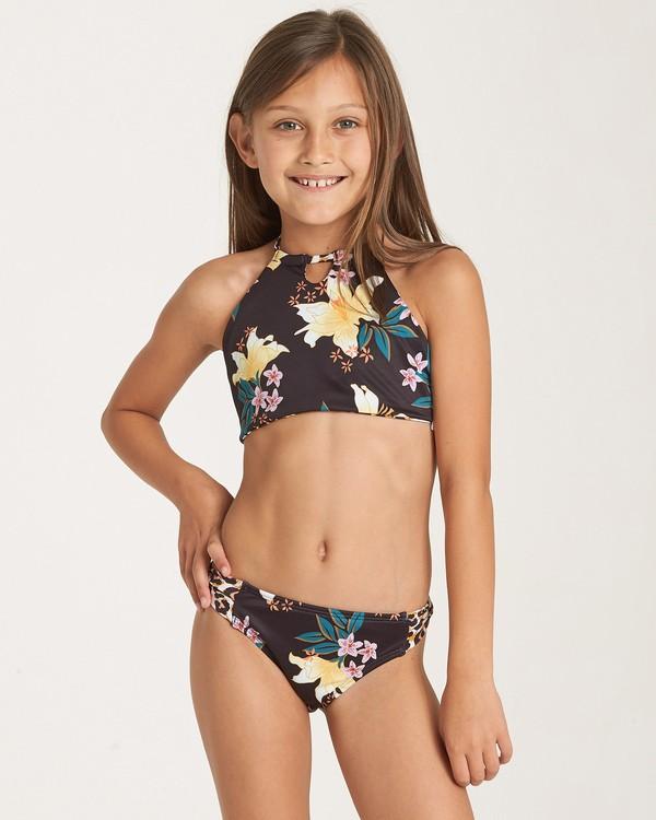 0 Girls' Wild Side High Neck Swim Set Black Y211WBWI Billabong