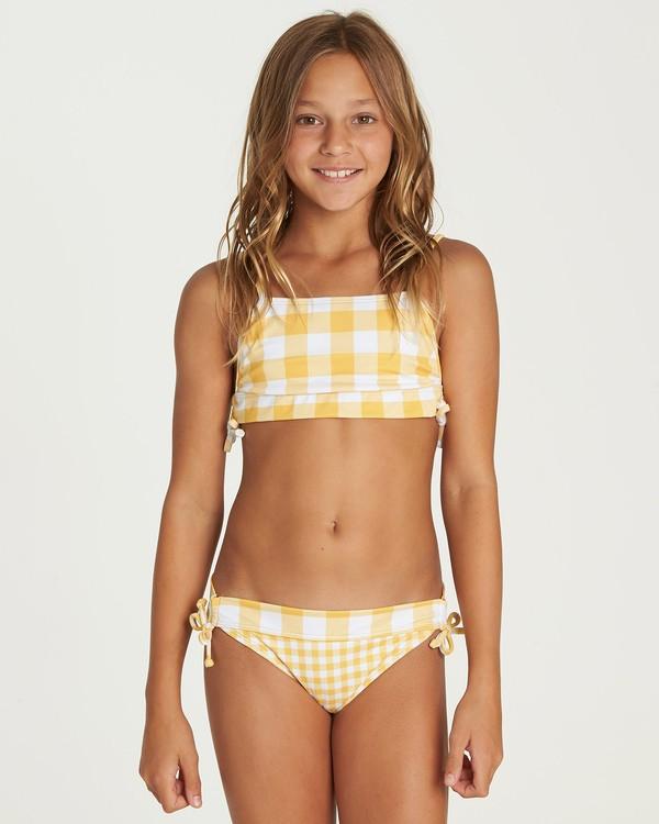 0 Girls' So Golden Band Tank Bikini Set Yellow Y212UBSO Billabong