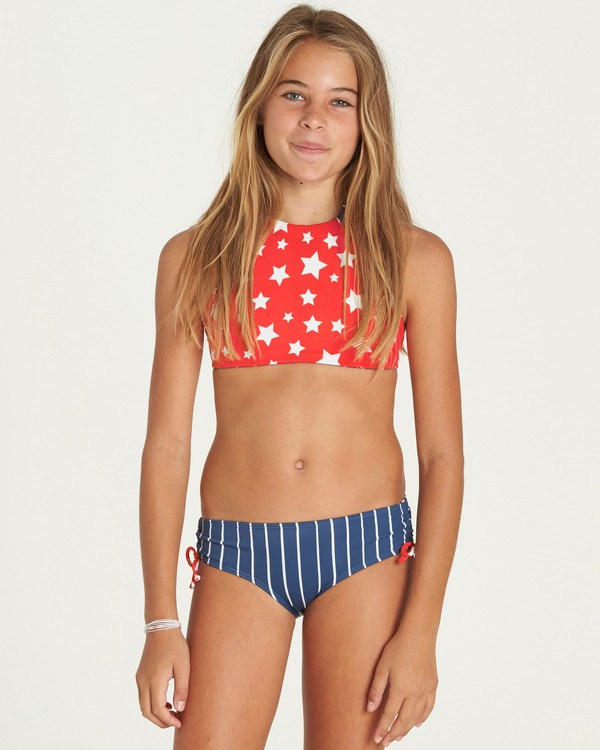 0 Girls' Seein' Stars High Neck Swim Set  Y217PBSE Billabong