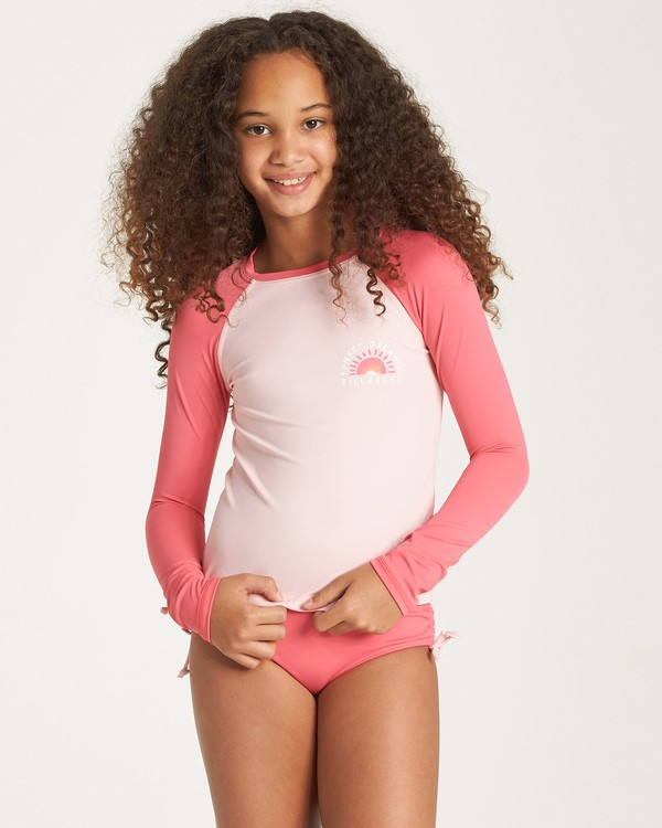 0 Girls' Sol Searcher Rashguard Grey YR01WBSO Billabong