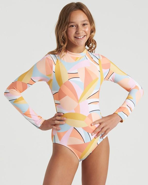 0 Girls' Warm Days Bodysuit Swim Grey YR023BWA Billabong