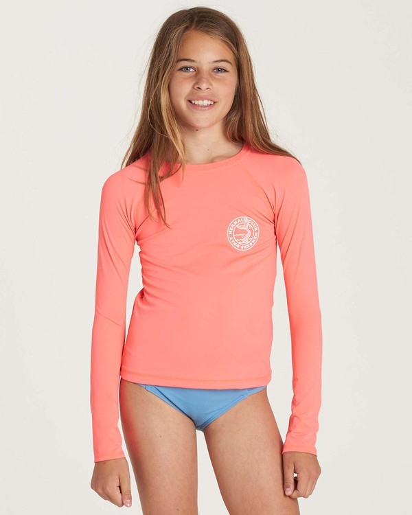 0 Girls' Sol Searcher Long Sleeve Rashguard  YR02NBSO Billabong