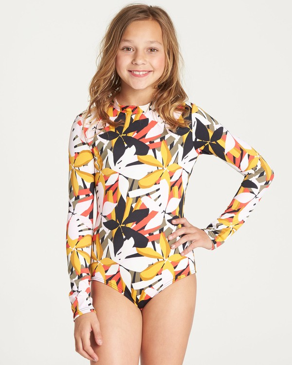0 Girls' Eastern Sun Bodysuit Rashguard Black YR03TBEA Billabong