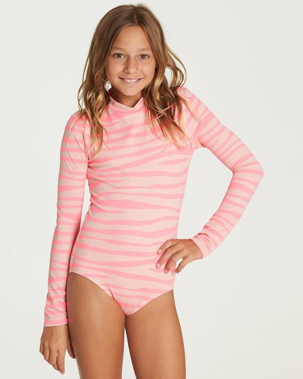 0 Girls' Wild Dream Bodysuit Rashguard Pink YR05UBWI Billabong